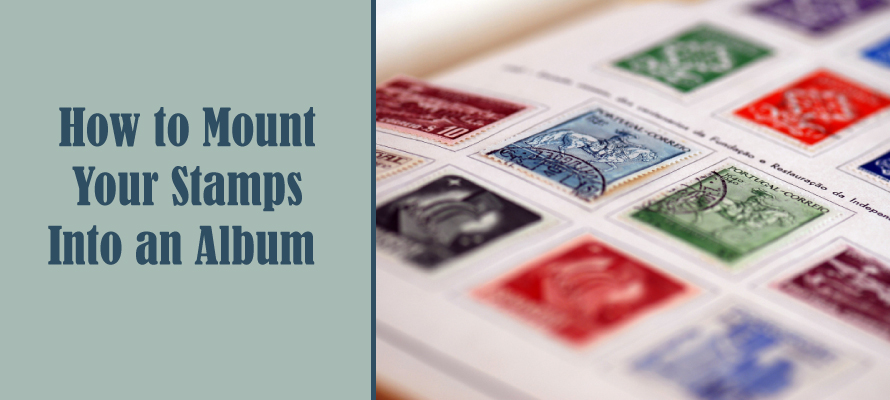 how to mount stamps into an album