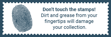 Touching your stamps is harmful