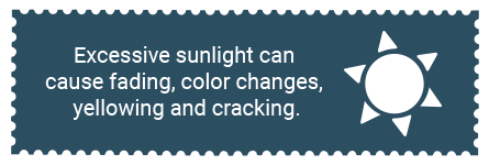 Stamps are damaged by long-term exposure to sunlight