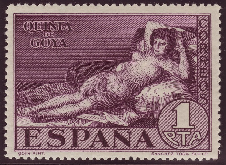 Nudes on Stamps